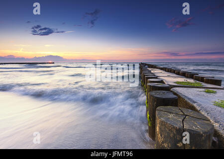 Beach on the baltic sea, germany - Stock Photo