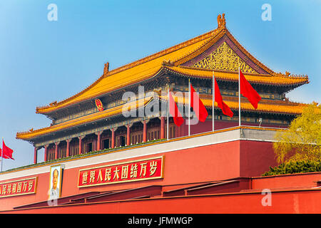 In the Forbidden City in Beijing North China - Stock Photo