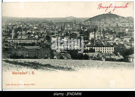 06461-Warnsdorf-1905-Blick über Warnsdorf-Brück & Sohn Kunstverlag - Stock Photo