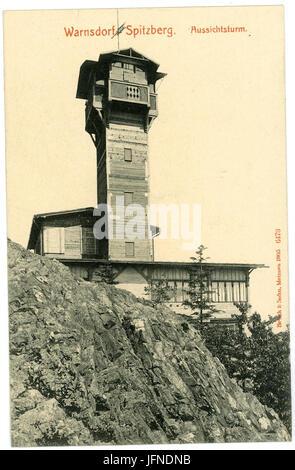 06473-Warnsdorf-1905-Spitzberg - Aussichtsturm-Brück & Sohn Kunstverlag - Stock Photo