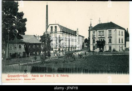 07893-Großröhrsdorf-1906-Fabrik der Firma J. G. Schurig-Brück & Sohn Kunstverlag - Stock Photo