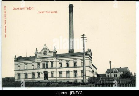 07900-Großröhrsdorf-1906-Elektrizitätswerk-Brück & Sohn Kunstverlag - Stock Photo