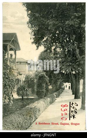 08320-Eugene, Ore.-1906-A Residence Street-Brück & Sohn Kunstverlag - Stock Photo