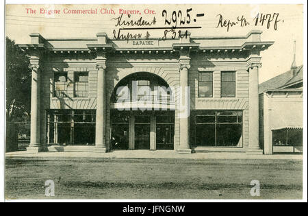 08321-Eugene, Ore.-1906-The Eugene Commercial Club-Brück & Sohn Kunstverlag - Stock Photo