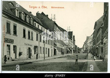 09424-Torgau-1908-Bäckerstraße-Brück & Sohn Kunstverlag - Stock Photo