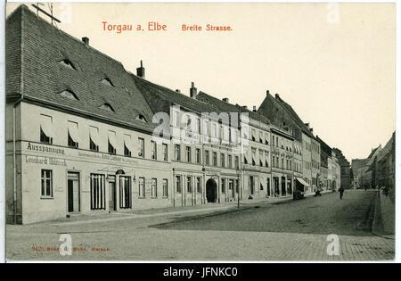09425-Torgau-1908-Breite Straße-Brück & Sohn Kunstverlag - Stock Photo