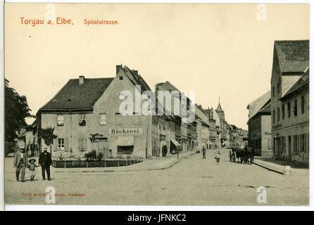09426-Torgau-1908-Spital - Straße-Brück & Sohn Kunstverlag - Stock Photo