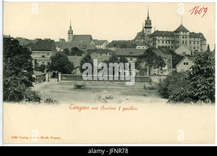 01609-Torgau-1901-Schloß Hartenfels von Bastion I gesehen-Brück & Sohn Kunstverlag - Stock Photo