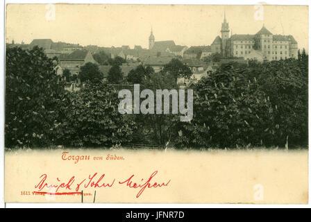01611-Torgau-1901-von Süden-Brück & Sohn Kunstverlag - Stock Photo