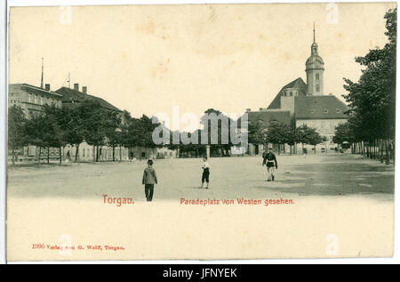 01996-Torgau-1901-Paradeplatz-Brück & Sohn Kunstverlag - Stock Photo