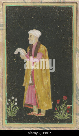 A portrait of Mirza Ghiyas Beg aka 'I'timād-ud-Daulah', 18th century - Stock Photo