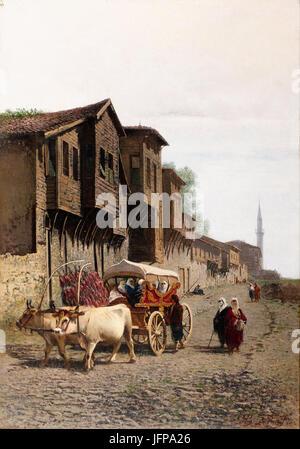 Achille Befani Formis - The  Koçu  Cart - Google Art Project - Stock Photo