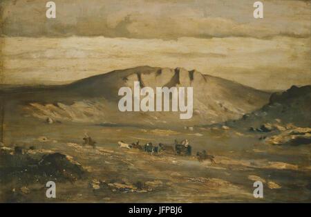 Adolf Kosárek - Lonely Landscape (Peasants´ Wedding) - Google Art Project - Stock Photo