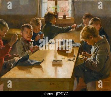 Albert Edelfelt - The Boys  Workhouse, Helsinki (1885)