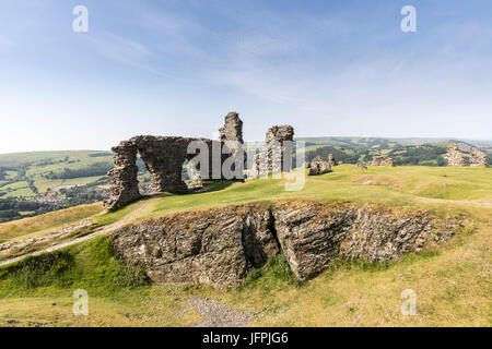 Dinas Bran Castle, Llangollen, Denbighshire, Wales, UK - Stock Photo