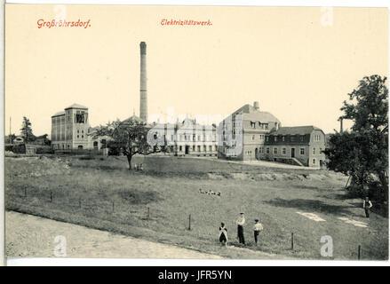 15029-Großröhrsdorf-1912-Elektrizitätswerk-Brück & Sohn Kunstverlag - Stock Photo