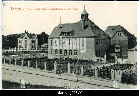 10100-Torgau-1908-Katholisches Pfarrhaus mit Kommunikanten-Anstalt-Brück & Sohn Kunstverlag - Stock Photo