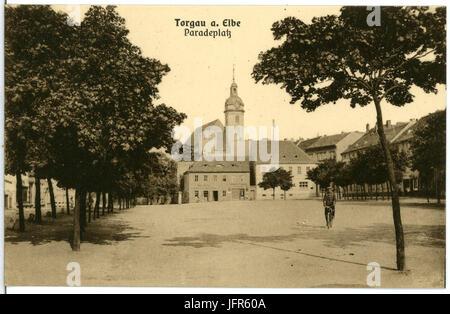 10101-Torgau-1908-Paradeplatz-Brück & Sohn Kunstverlag - Stock Photo
