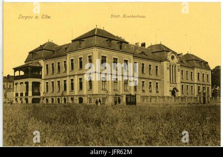 10107-Torgau-1908-Städtisches Krankenhaus-Brück & Sohn Kunstverlag - Stock Photo