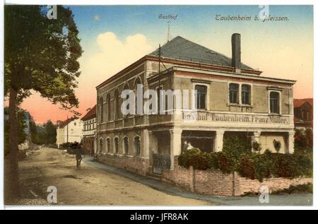16645-Taubenheim (Klipphausen)-1913-Gasthof-Brück & Sohn Kunstverlag - Stock Photo