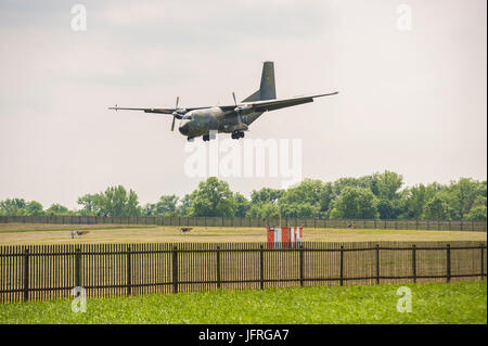 Transall C-160 Military Transport Plane - Stock Photo