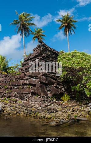 Ruined city Nan Madol,  Pohnpei, Micronesia, Central Pacific - Stock Photo