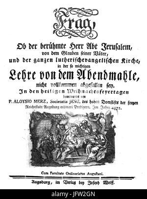 Alois Merz Ob der berühmte Herr Abt Jerusalem - Stock Photo