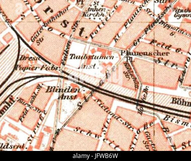 Dresden Map 1895 Stock Photo 162212549 Alamy