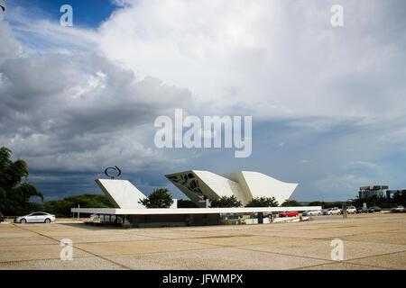 National Pantheon, 1986, Architect: Oscar Niemeyer - Stock Photo