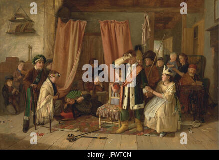 Charles Hunt - Children acting the 'Play Scene' from  Hamlet,  Act II, Scene ii - Google Art Project - Stock Photo