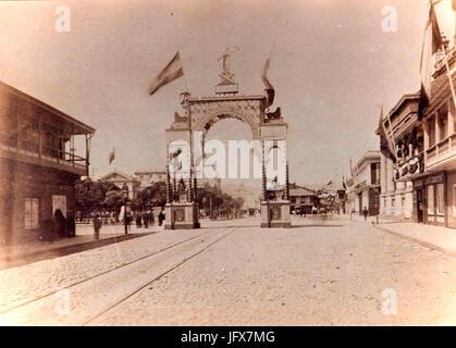 Arco de los españoles Valparaíso Guerra del pacifico - Stock Photo