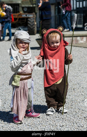 Cosplay. Comic fans, film fans and cosplay fans of all ages gather at The Heartlands in Cornwall for Geekfest 3.0. - Stock Photo