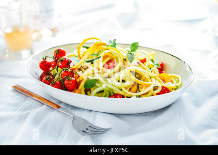 Spiralized zucchini - Stock Photo