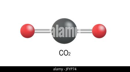 CO2 Carbon dioxide molecule model - Stock Photo