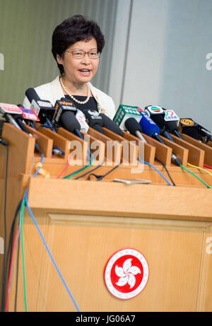 Hong Kong, Hong Kong, Hong Kong SAR, China. 3rd July, 2017. HONG KONG, CHINA - JULY 03: Hong Kong's Chief Executive - Stock Photo