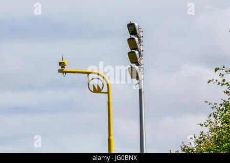Southport, Merseyside, UK. 3rd July, 2017.   New Vysionics Average Speed Infrared Speed cameras, radar, equipment, - Stock Photo