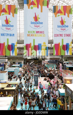 London, UK. 3rd July, 2017. Visitors at the Imbibe Live Exhibition on day 1,  at London, Olympia. Expo Photo/Alamy - Stock Photo