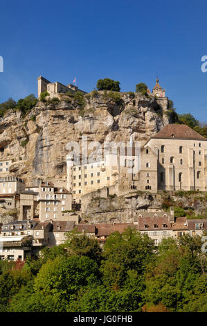 village of Rocamadour, Midi-Pyrenees, France - Stock Photo