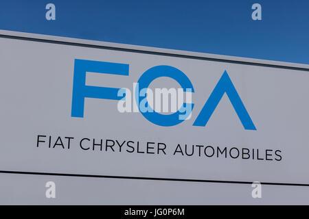 Kokomo - Circa June 2017: FCA Fiat Chrysler Automobiles Transmission Plant. FCA sells vehicles under the Chrysler, - Stock Photo