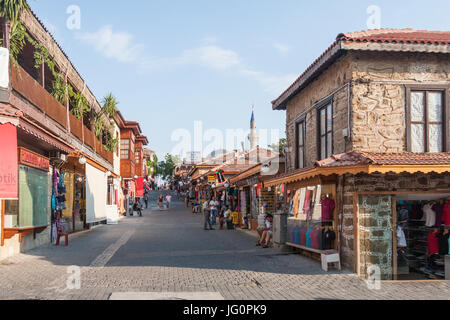 A typical street in Side, Turkey - Stock Photo