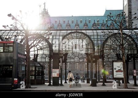 Bushaltestelle Rathausmarkt - Stock Photo