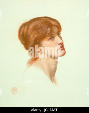 Dante Gabriel Rossetti - Study for  Dante's Dream  - Head of Alexa Wilding - Stock Photo