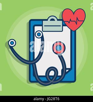 sthetoscope and medical related icons - Stock Photo