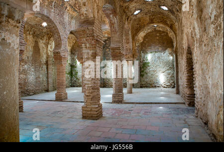 Arabic baths in Ronda. Built at the end of the 13th century during the reign of King Abomelik. The baths are located - Stock Photo