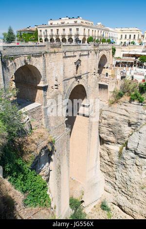 New Bridge Puente Nueva, Ronda, Andalusia, Spain - Stock Photo