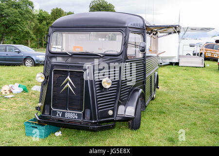 Citroen H Van Converted Into A Mobile Catering Coffee At An Outdoor Fair