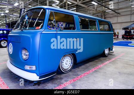 ... Restored Volkswagen Type 1 (1967 1979) Camper Van With Lowered  Suspension.