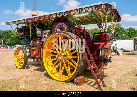 Showman`s Road Locomotive Traction Engine at a Steam rally - Stock Photo