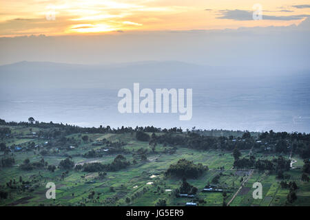Great Rift Valley landscape taken from Mouse Summit, Kenya - Stock Photo