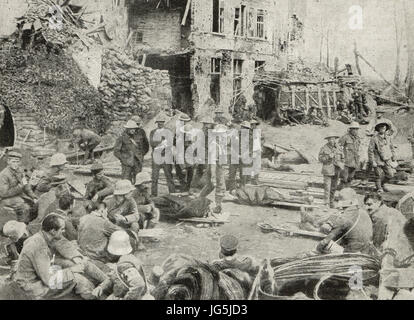 German prisoners, Battle of the Menin Rd, 1917 - Stock Photo